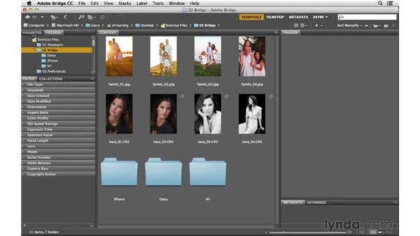 Finding and organizing your images with folders and favorites: Photoshop CC for Photographers: Fundamentals