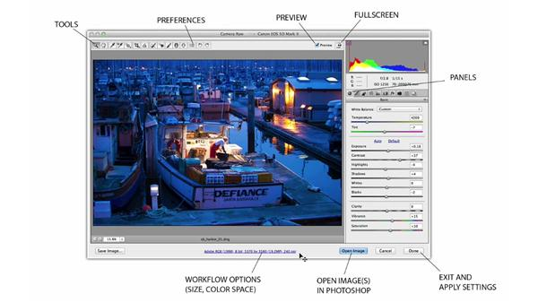 The Camera Raw interface: Photoshop CC for Photographers: Fundamentals