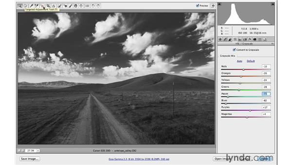 Creating a compelling black-and-white landscape: Photoshop CC for Photographers: Fundamentals