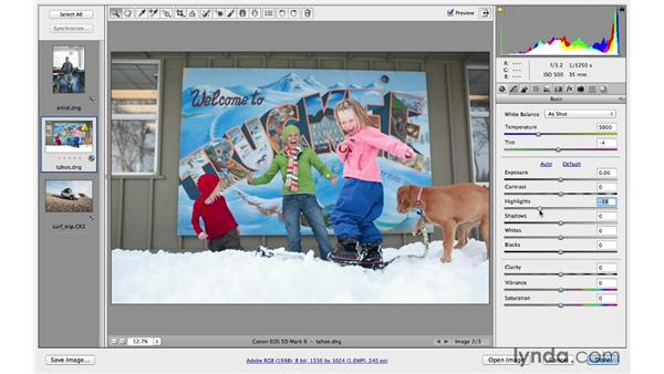 Correcting exposure and recovering highlights: Photoshop CC for Photographers: Fundamentals