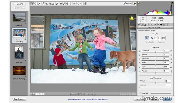 Correcting lens distortions: Photoshop CC for Photographers: Fundamentals