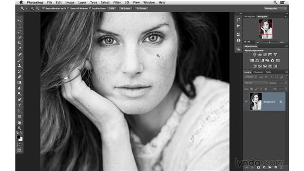 Zooming in and out on your photographs: Photoshop CC for Photographers: Fundamentals