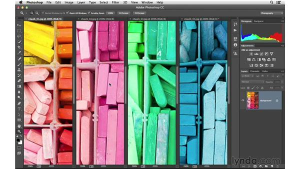 Arranging and viewing multiple documents: Photoshop CC for Photographers: Fundamentals