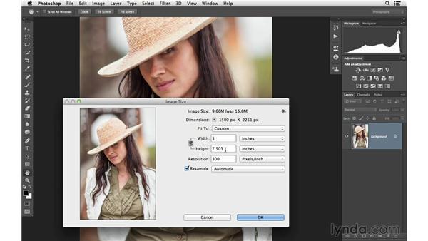Using the resizing presets: Photoshop CC for Photographers: Fundamentals