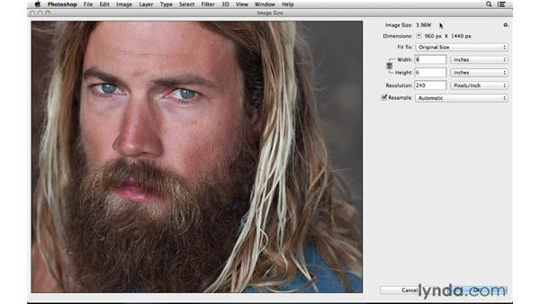 Quickly increasing your image size: Photoshop CC for Photographers: Fundamentals