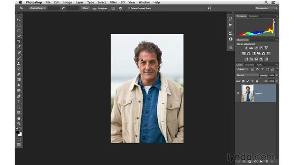 Recomposing and cropping your photographs: Photoshop CC for Photographers: Fundamentals
