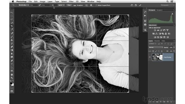 Cropping your images to a specific size: Photoshop CC for Photographers: Fundamentals