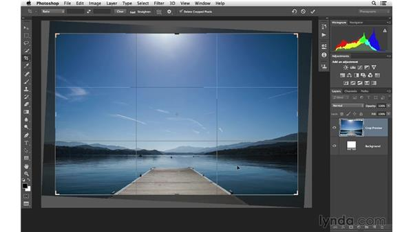 Cropping and making the horizon level: Photoshop CC for Photographers: Fundamentals