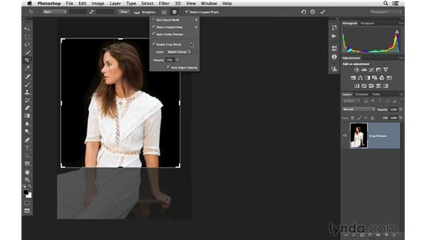 Using the Marquee tool to crop: Photoshop CC for Photographers: Fundamentals