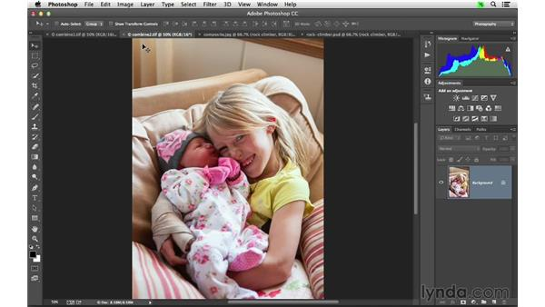 Combining multiple images together as layers: Photoshop CC for Photographers: Fundamentals
