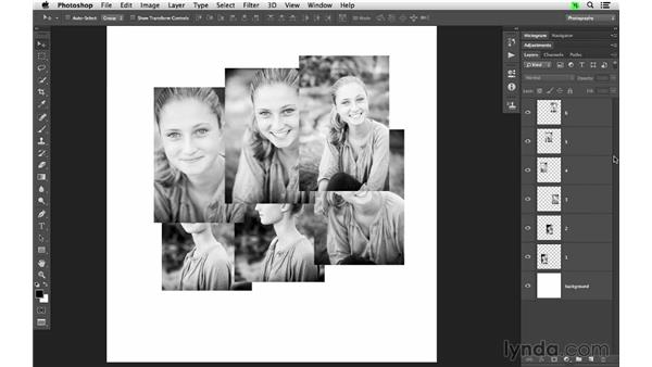 Creating a layout of multiple images: Photoshop CC for Photographers: Fundamentals