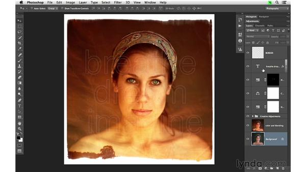 Changing layer opacity: Photoshop CC for Photographers: Fundamentals