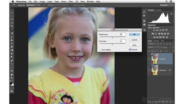 Adding brightness and contrast: Photoshop CC for Photographers: Fundamentals
