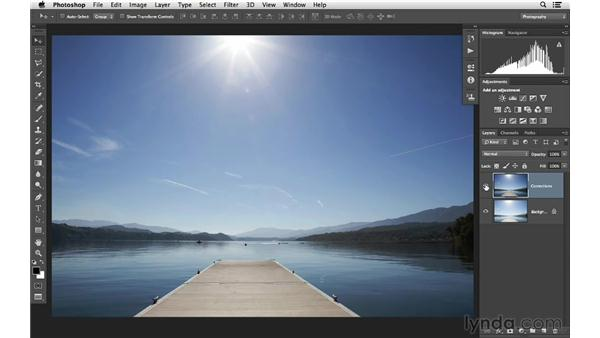 Fixing an image that is too bright: Photoshop CC for Photographers: Fundamentals