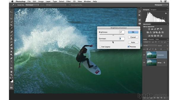 Brightening the shadow areas of a photo: Photoshop CC for Photographers: Fundamentals