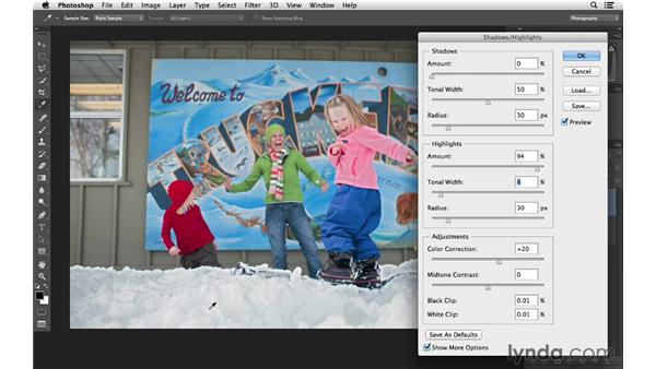 Correcting overexposure: Photoshop CC for Photographers: Fundamentals