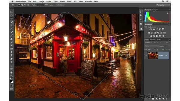 Using the Polygonal Lasso tool: Photoshop CC for Photographers: Fundamentals