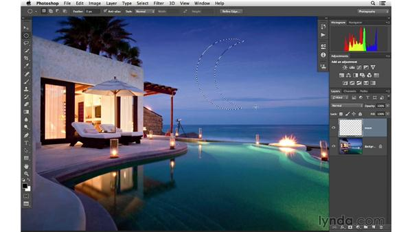 Adding to or subtracting from your selection: Photoshop CC for Photographers: Fundamentals