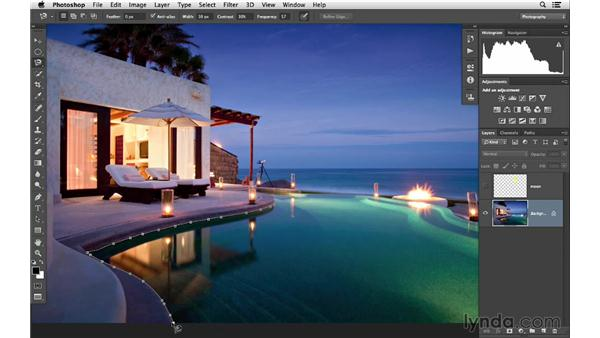 Using the Magnetic Lasso tool: Photoshop CC for Photographers: Fundamentals