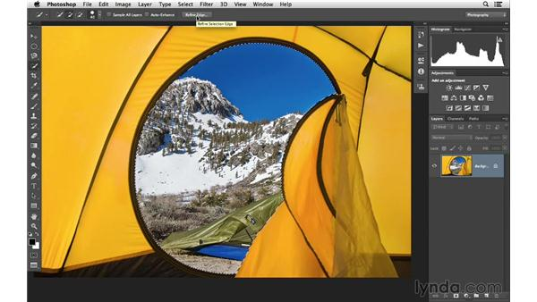 Working with the Quick Select tool: Photoshop CC for Photographers: Fundamentals