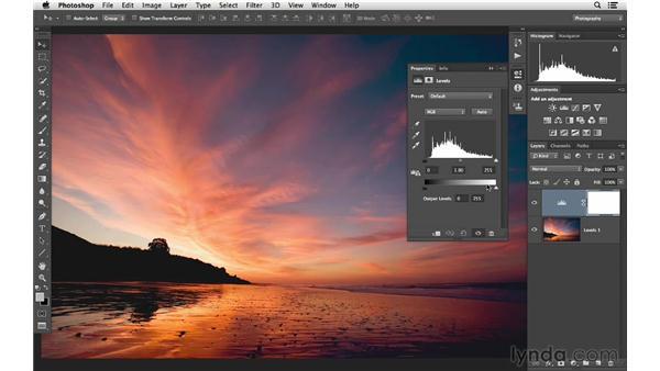 Making custom levels adjustments: Photoshop CC for Photographers: Fundamentals