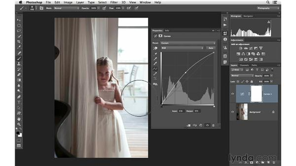 Fine-tuning an image with Curves: Photoshop CC for Photographers: Fundamentals