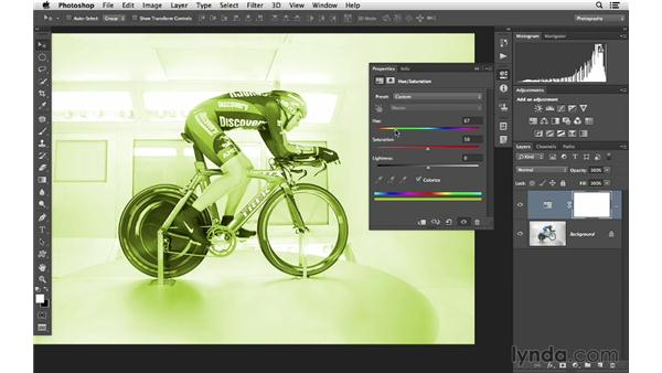 Changing color with Hue/Saturation: Photoshop CC for Photographers: Fundamentals