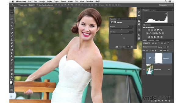 Increasing saturation and color variety with Vibrance: Photoshop CC for Photographers: Fundamentals