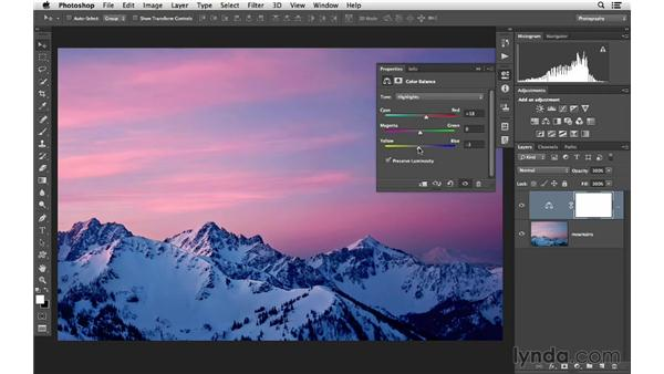 Using Color Balance to create vivid color: Photoshop CC for Photographers: Fundamentals