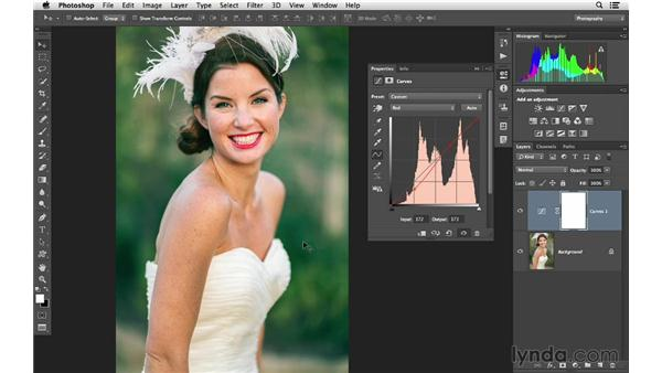 Creating a color effect with Curves: Photoshop CC for Photographers: Fundamentals