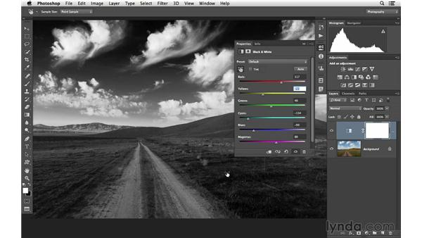 Converting to black and white: Photoshop CC for Photographers: Fundamentals