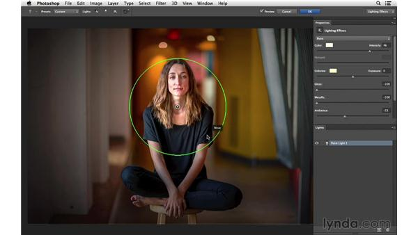 Lighting your photographs with Lighting Effects: Photoshop CC for Photographers: Fundamentals