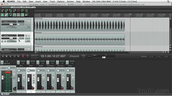 Understanding tracks and the Transport controls: Up and Running with REAPER 4