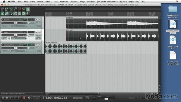 Importing audio files: Up and Running with REAPER 4