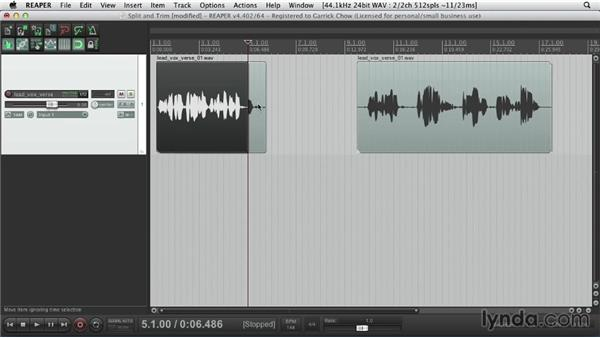 Ripple editing: Up and Running with REAPER 4