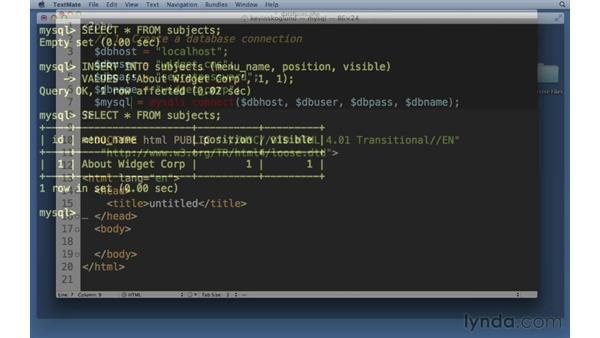 Welcome: PHP with MySQL Essential Training