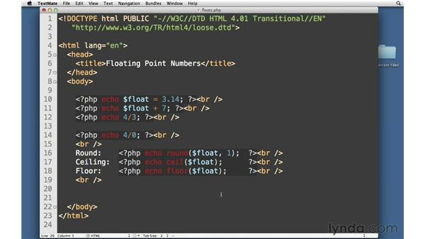Numbers Part Two: Floating Points: PHP With MySQL Essential Training (2013)