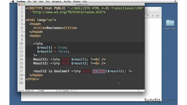 Booleans: PHP with MySQL Essential Training