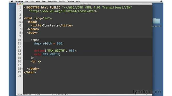 Constants: PHP with MySQL Essential Training