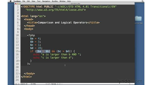 Logical operators: PHP with MySQL Essential Training