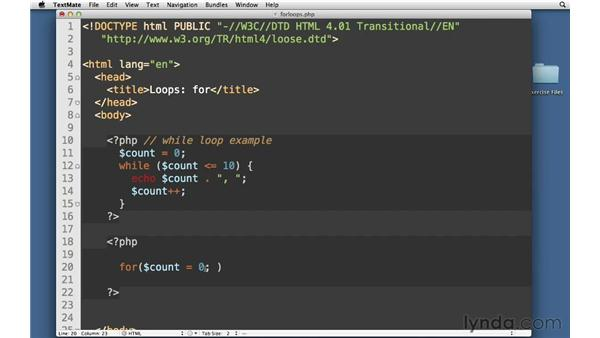 For loops: PHP with MySQL Essential Training