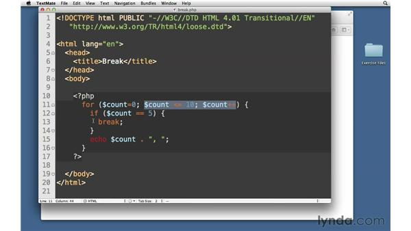 Break: PHP with MySQL Essential Training