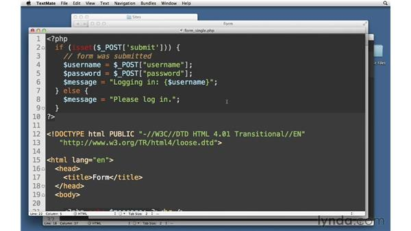 Single-page form processing: PHP with MySQL Essential Training
