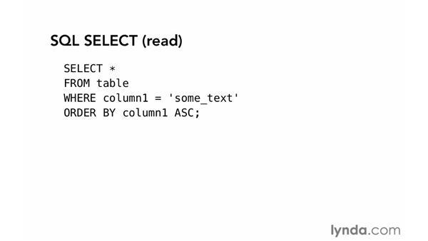 CRUD in MySQL: PHP with MySQL Essential Training