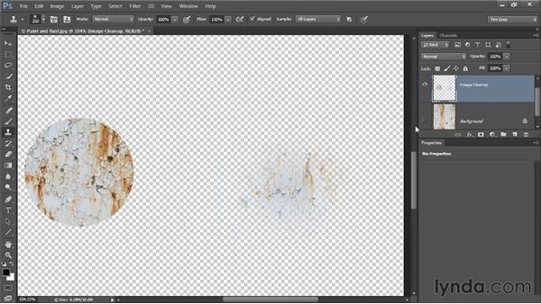 Brush hardness considerations: Photoshop CC Image Cleanup Workshop
