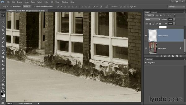 Checking your work: Photoshop CC Image Cleanup Workshop
