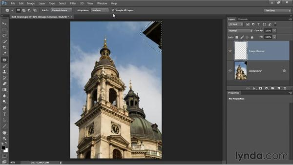 The Patch tool: Photoshop CC Image Cleanup Workshop