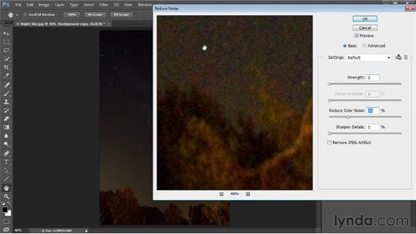Reducing noise: Photoshop CC Image Cleanup Workshop