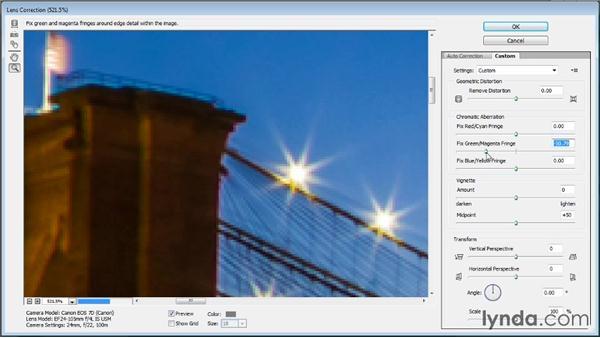 Fixing chromatic aberration: Photoshop CC Image Cleanup Workshop