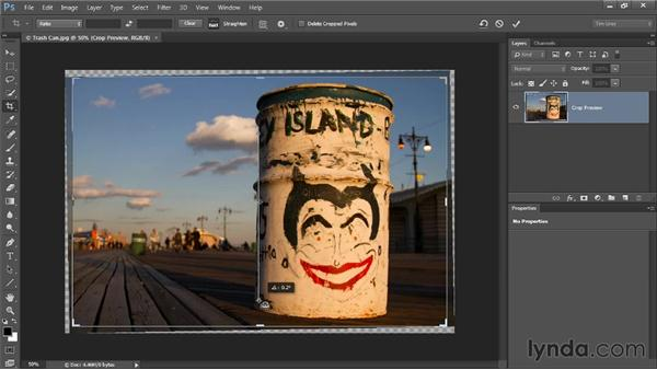 Straightening a crooked image: Photoshop CC Image Cleanup Workshop